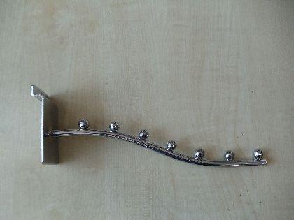 Chromowany ukośny wieszak - ramię Długość 25 cm.