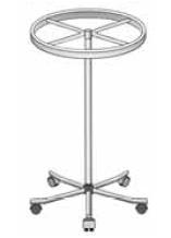 Chromowany okrągły stojak na kółkach.100cm / 130cm