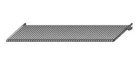 Półka perforowana 663x400mm – system Variant