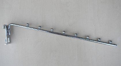Chromowany wieszak - ramię 8 kuleczek-15°- 38cm