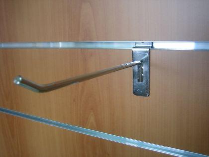 Chromowany prosty hak 150mm do panela