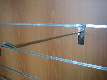 Chromowany prosty hak 300mm do panela