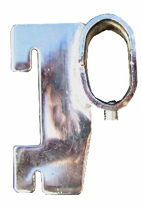 Chromowany trzymak owalu 15x30mm do stelaży