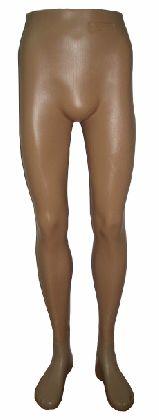 Nogi męskie, kolor beżowy. Plastik.