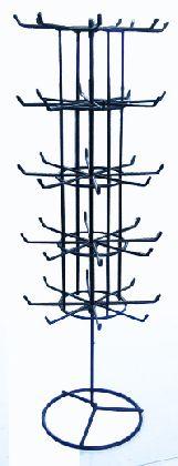 Pięciopiętrowy stojak na biżuterię chromowany