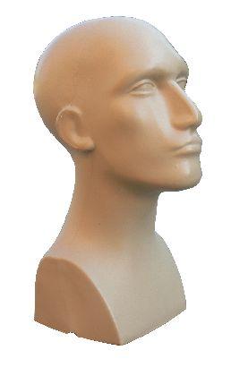 Głowa męska, kolor cielisty