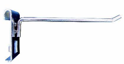Chromowany prosty haczyk 10cm na  kratę.
