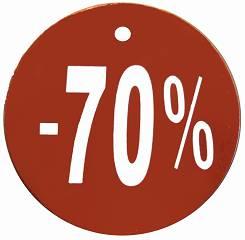 Papierowe wywieszki okrągłe ze zniżką - 70%