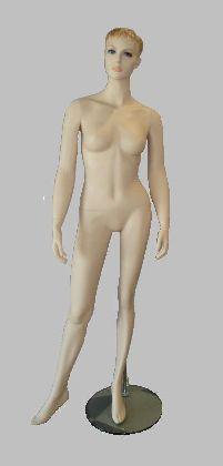 Manekin damski cielisty z głową