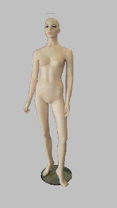 Manekin damski w kolorze cielistym z głową