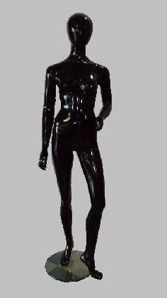 Manekin damski czarny z głową