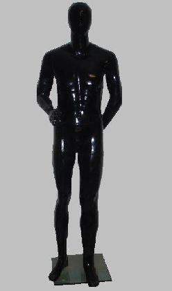 Manekin męski czarny z głowy