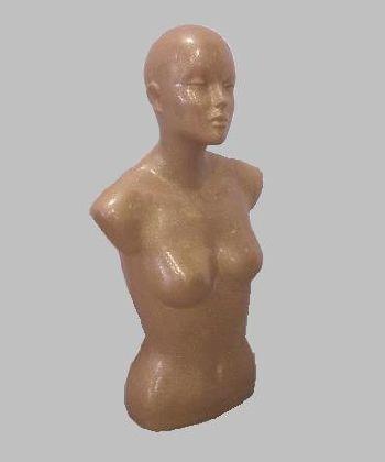 Popiersie damskie Brokat złoty z głową